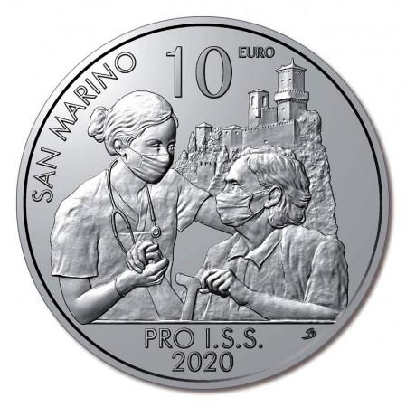 """2020 * 10 Euro Cupronichel SAN MARINO """"Pro I.S.S. - Istituto per la Sicurezza Sociale"""" UNC"""