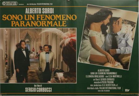 """1985 * Locandina Fotobusta """"Sono un Fenomeno Paranormale - Alberto Sordi, Elsa Martinelli, Eleonora Brigliadori"""" Commedia (A-)"""
