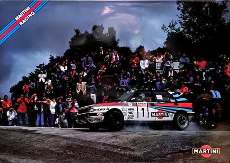 "1989 * Poster Originale ""Lancia Delta Martini Racing, Didier Auriol, Tour de Corse"" (A)"