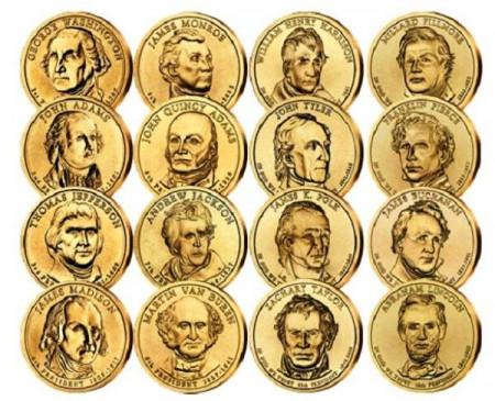 """2007-2010 * Lotto 16 x 1 Dollaro Stati Uniti """"Serie Presidenti 1-16th"""" (D) - Denver"""