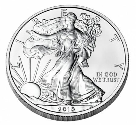 "2010 * 1 Dollaro Argento 1 OZ Stati Uniti ""Liberty - Silver Eagle"" FDC"