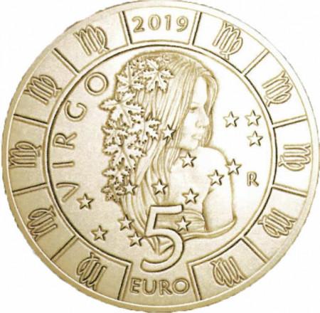 """2019 * 5 Euro Bronzital SAN MARINO """"Serie Zodiaco – Vergine"""" UNC"""