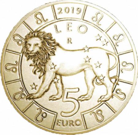 """2019 * 5 Euro Bronzital SAN MARINO """"Serie Zodiaco - Leone"""" UNC"""