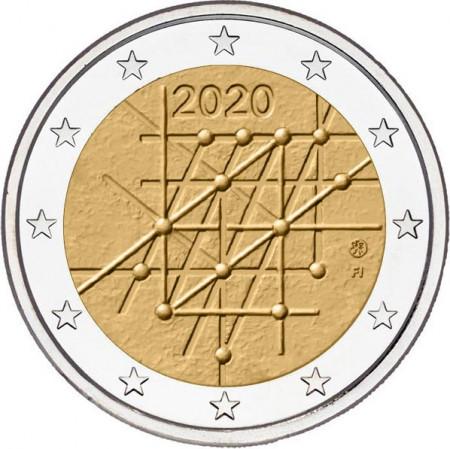 """2020 * 2 Euro FINLANDIA """"100º anniversario dell'Università di Turku"""" UNC"""