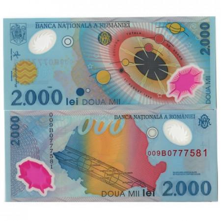 "1999 * Banconota Polimera Romania 2000 Lei ""Sistema Solare"" (p111a) FDS"