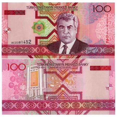 "2005 * Banconota Turkmenistan 100 Manat ""S Nyýazow"" (p18) FDS"