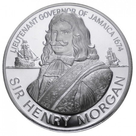 1974 * 10 dollari Giamaica Ammiraglio Sir Henry Morgan