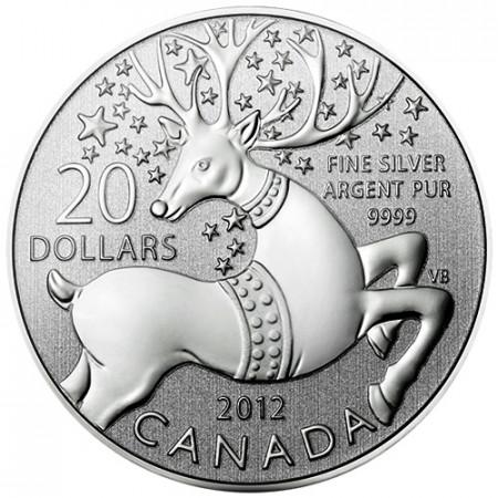 2012 * 20 Dollari Canada Buone Feste