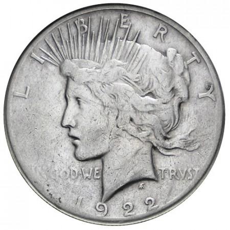 1922 * 1 Dollaro Pace S Stati Uniti B San Francisco