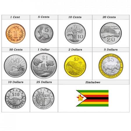 Anni Misti * Serie 10 monete Zimbabwe
