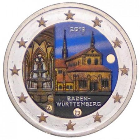 2013 * 2 euro GERMANIA Monastero di Maulbronn colorato