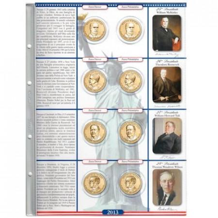 ABAFIL * Foglio con tasche per monete da 1 dollaro 2013