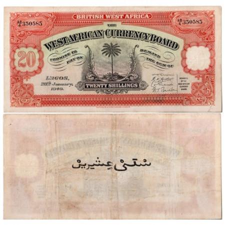 1949 * Banconota Africa Occidentale Britannica 20 scellini BB