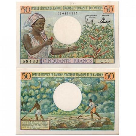 1957 * Banconota Africa Equatoriale Francese 50 franchi SPL