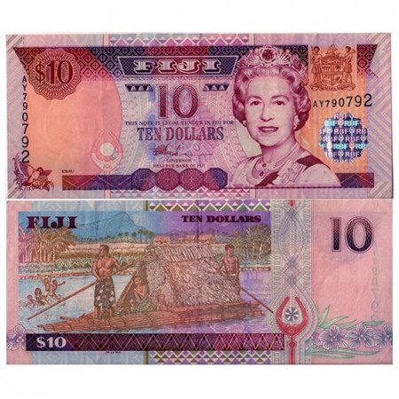 2002 * Banconota Fiji 10 dollari FDS