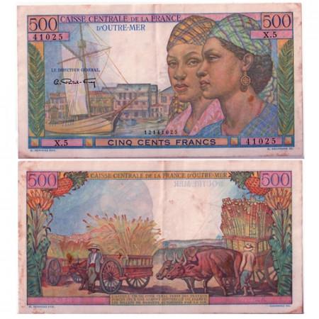 1949 * Banconota Africa Equatoriale Francese 500 franchi BB