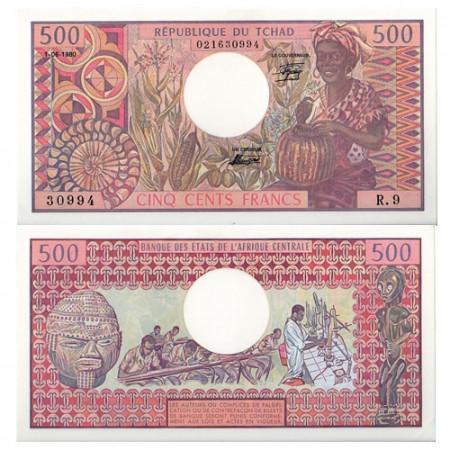 1980 * Banconota Ciad 500 franchi FDS