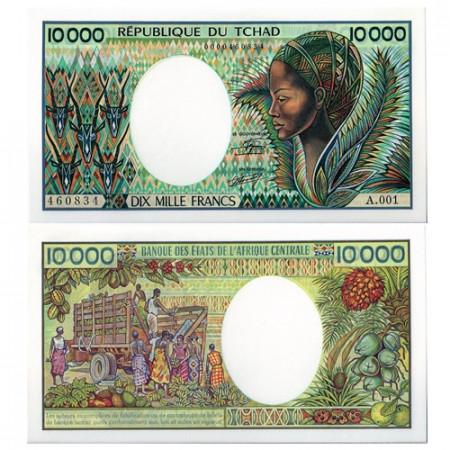 1984-1991 * Banconota Ciad 10000 franchi FDS