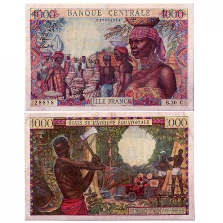 1963 * Banconota Stati Africa Equatoriale 1000 franchi MB