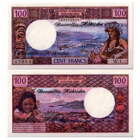 1975 * Banconota Nuove Ebridi 100 franchi FDS
