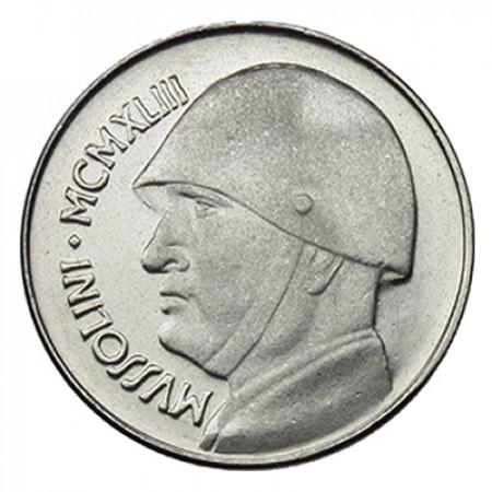 """1943 * Medaglia Italia Benito Mussolini """"20 Lire"""""""