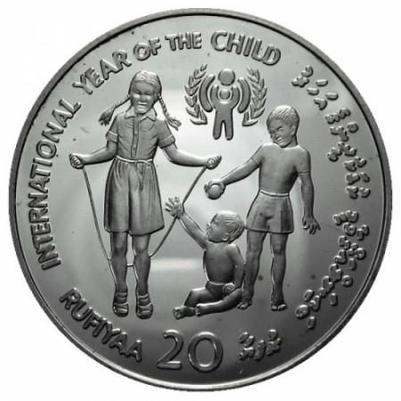 1979 * 20 Rufiyaa Maldive Anno del Bambino