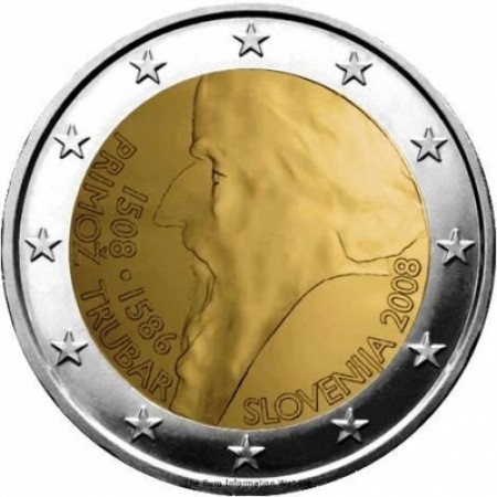 2008 * 2 euro SLOVENIA Primož Trubar
