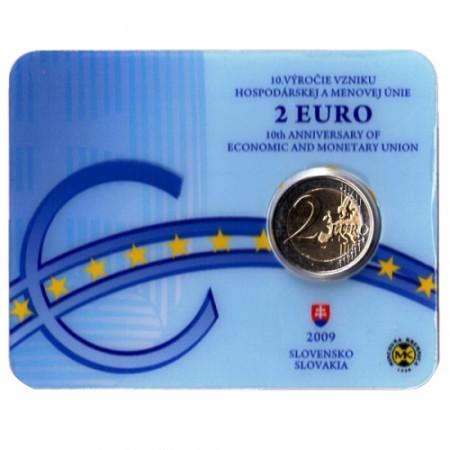 2009 * 2 euro SLOVACCHIA Unione Economica e Monetaria Coincard