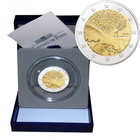 2015 * 2 euro FRANCIA 70 anni di pace in Europa PROOF