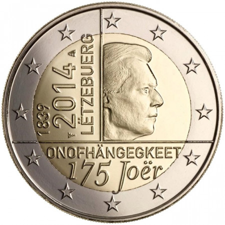 2014 * 2 euro LUSSEMBURGO 175° Anniversario Indipendenza