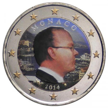 2014 * 2 euro MONACO Alberto II colorato