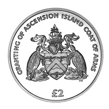 2013 * 2 pound Isola di Ascensione Stemma Nazionale