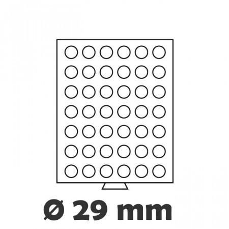 Box MB per monete 42 caselle 29mm Ø colore fumè * LEUCHTTURM