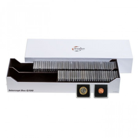 Box Intercept per 100 Capsule Portamonete QUADRUM * LEUCHTTURM