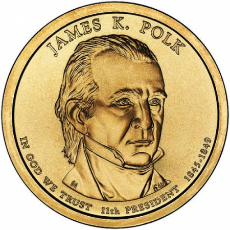 "2009 * 1 Dollaro Stati Uniti ""James K. Polk - 11th"" UNC"