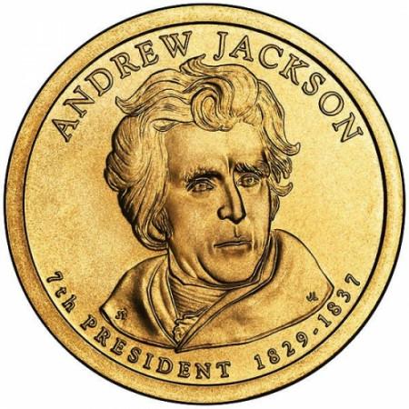 """2008 * 1 Dollaro Stati Uniti """"Andrew Jackson - 7th"""" UNC"""