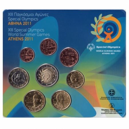 2011 * GRECIA Blister Ufficiale con 2 euro commemorativo FDC