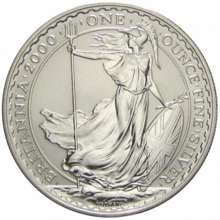2000 * 2 Sterline d'argento Britannia - Gran Bretagna