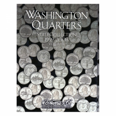 Whitman Folder Quarti di dollaro 50 Stati vol I