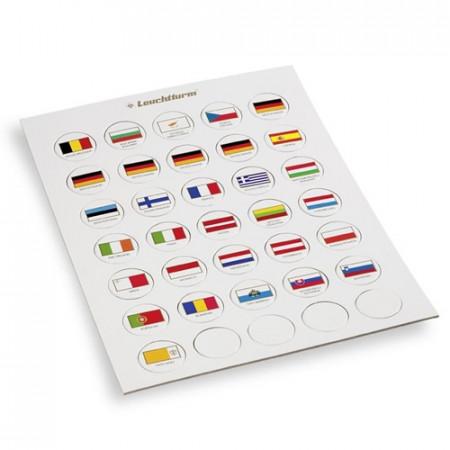 Badge con bandiere dei paesi dell'euro * LEUCHTTURM
