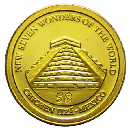 "2011 * 5 Dollari oro Isole Salomone ""Chichén Itzá - Mexico"""