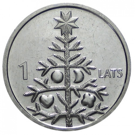 2009 * 1 Lats Lettonia Albero di Natale