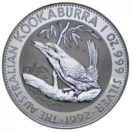 """1992 * 1 Dollaro Argento 1 OZ Australia """"Kookaburra"""" FDC"""
