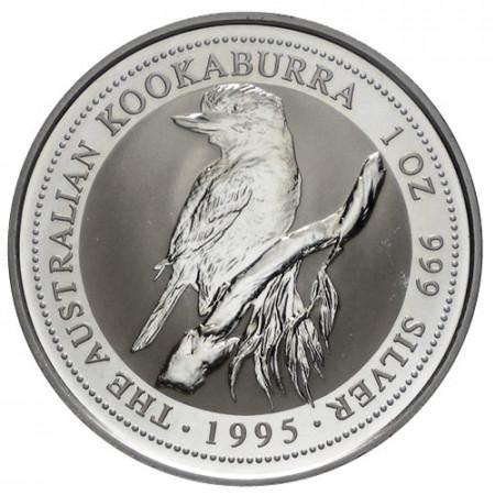 """1995 * 1 Dollaro Argento 1 OZ Australia """"Kookaburra"""" FDC"""