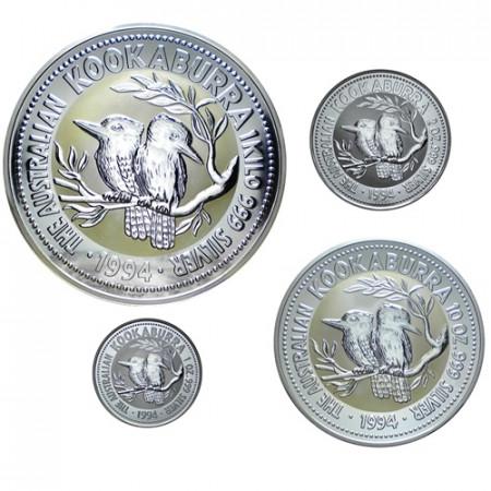 1994 * Set completo argento Kookaburra Australia