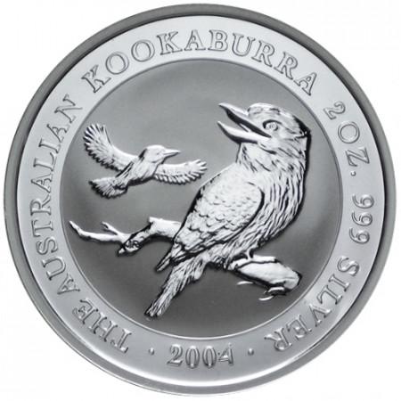 2004 * 2 Dollari d'argento 2 OZ Kookaburra Australia