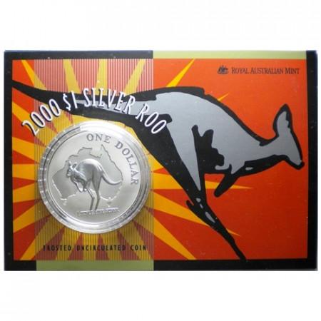 2000 * Dollaro d'argento 1 OZ Canguro Australia coincard