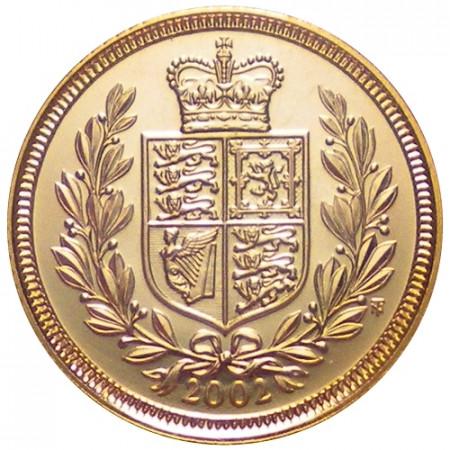 2002 * Sterlina d'oro Gran Bretagna Giubileo Regina
