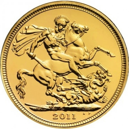 2011 * Sterlina d'oro Gran Bretagna San Giorgio