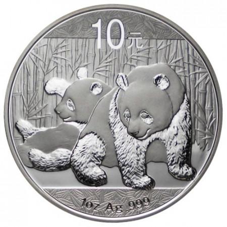 2010 * 10 Yuan d'argento 1 OZ Cina Panda